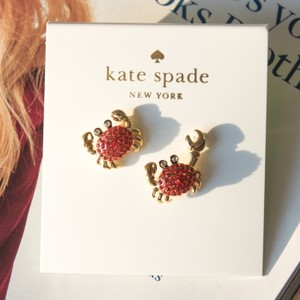 Kate Spade Gold Cute Shore thing crab earrings