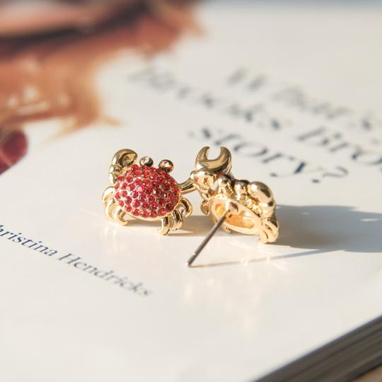 Kate Spade Gold Cute Shore thing crab earrings Image 1