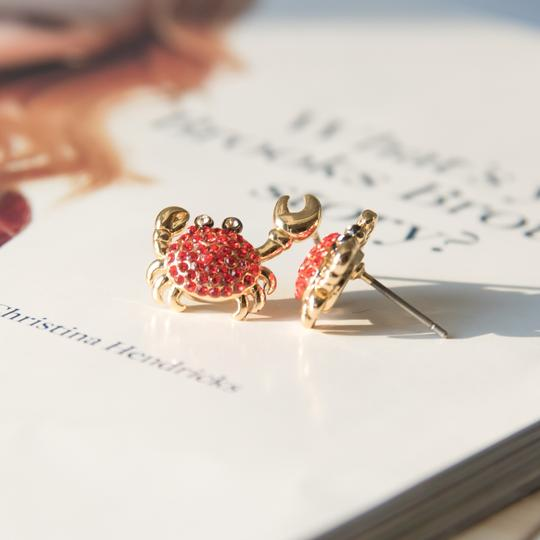 Kate Spade Gold Cute Shore thing crab earrings Image 3