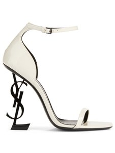 Saint Laurent Opium Opyum Logo Stiletto Sandal white Pumps