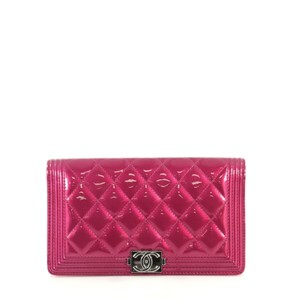 Chanel Wallet Quilted Wristlet in pink