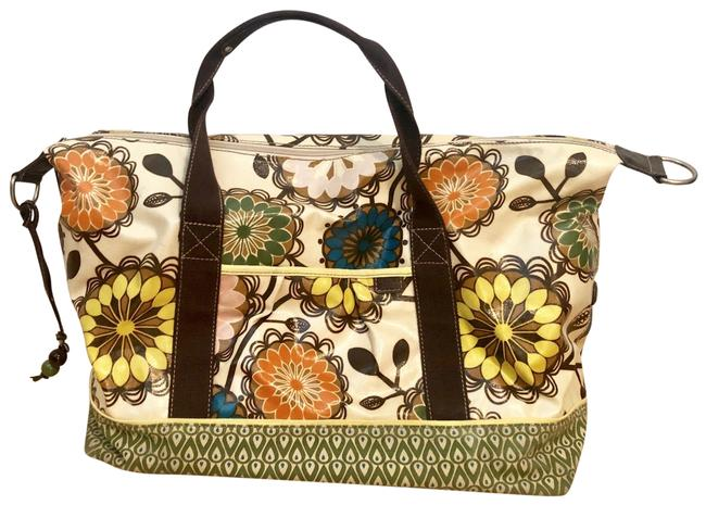 Item - Multicolor Coated Canvas Weekend/Travel Bag