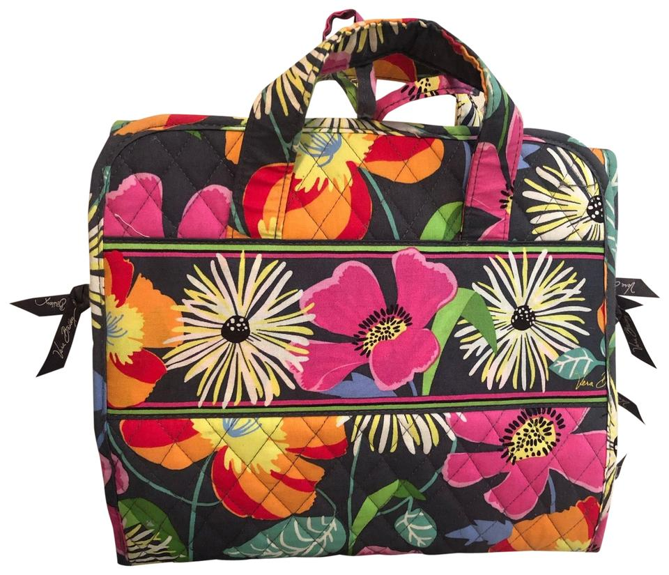 Vera Bradley Toiletry and Makeup Pink Cotton Blend Weekend ...