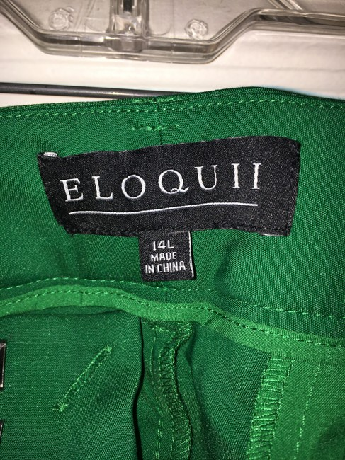 Eloquii Plus-size Trouser Pants Green Image 4