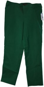 Eloquii Plus-size Trouser Pants Green