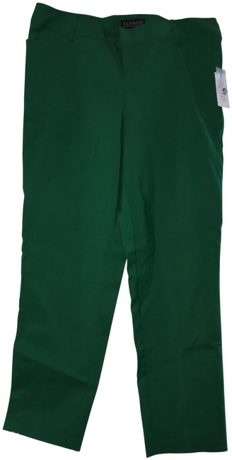 Eloquii Plus-size Trouser Pants Green Image 0