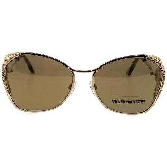 Roberto Cavalli RC1062-32G-58 Butterfly Women's Gold Frame Brown Lens Sunglasses NWT Image 1