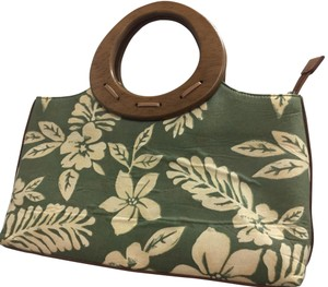Relic Satchel in Natural and green