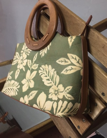 Relic Satchel in Natural and green Image 2