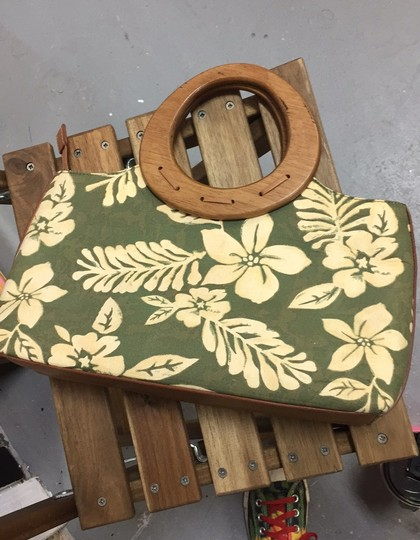 Relic Satchel in Natural and green Image 3