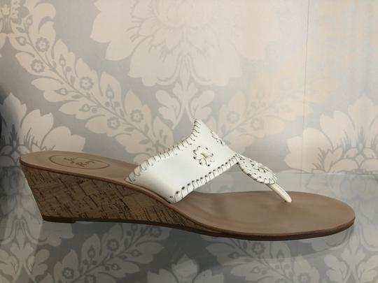 Jack Rogers Leather Wedge White Sandals Image 1