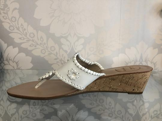 Jack Rogers Leather Wedge White Sandals Image 2