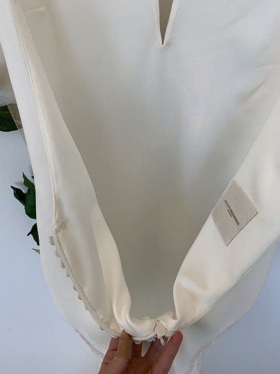 Pronovias Off White and Crystal Crepe Tulle Colonia Sexy Wedding Dress Size 8 (M) Image 5