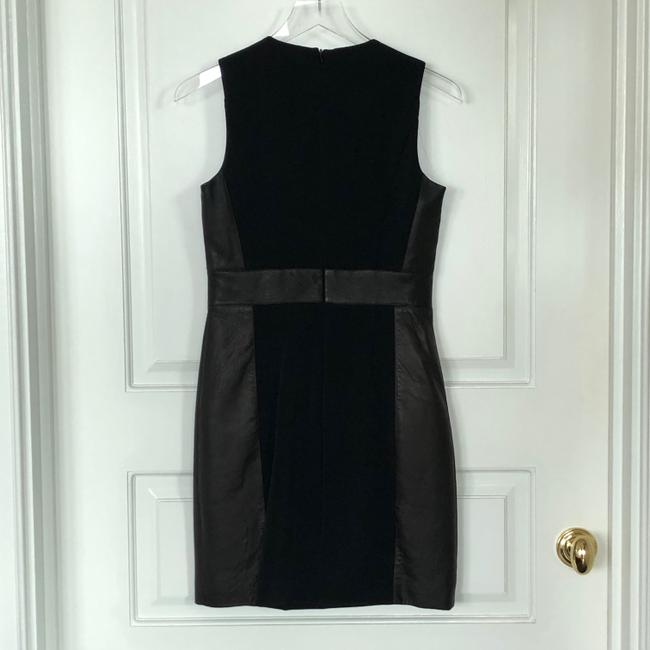 Theory Sleeveless Leather Fitted Zipper Dress Image 1