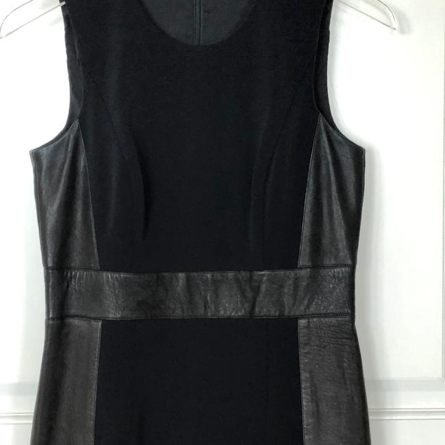 Theory Sleeveless Leather Fitted Zipper Dress Image 7