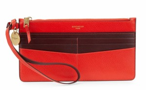 Givenchy Red Aubergine Clutch