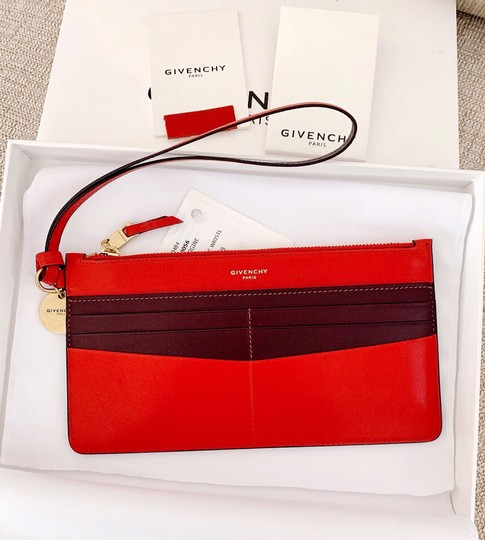 Givenchy Red Aubergine Clutch Image 1