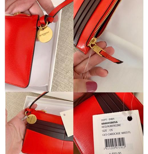 Givenchy Red Aubergine Clutch Image 4
