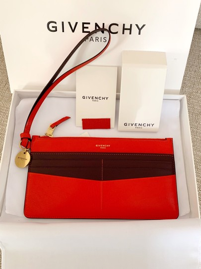 Givenchy Red Aubergine Clutch Image 7