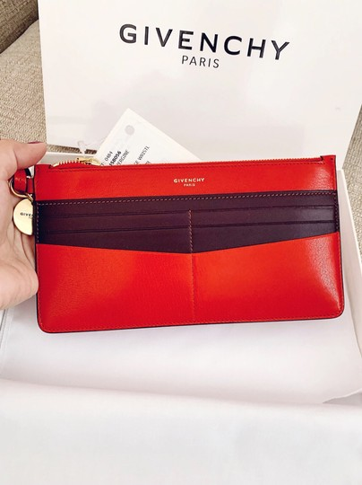 Givenchy Red Aubergine Clutch Image 8