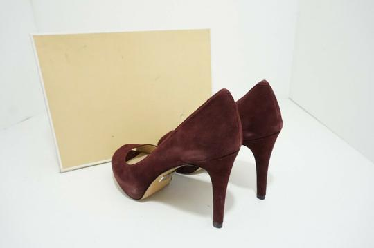 Michael Kors Platform Peep Toe Suede Purple, Red Pumps Image 2