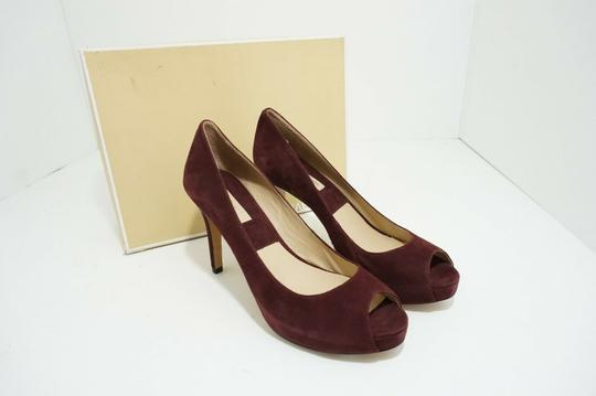 Michael Kors Platform Peep Toe Suede Purple, Red Pumps Image 3