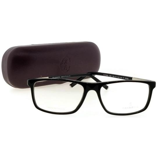 Charriol PC7505-C01-56 Rectangle Mens Black Frame Clear Lens Genuine Eyeglasses Image 4