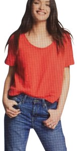 Universal Thread New With Tags Textured T Shirt Bright Red