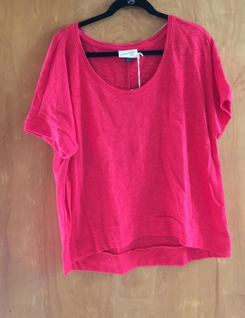 Universal Thread New With Tags Textured T Shirt Bright Red Image 1
