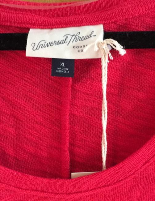 Universal Thread New With Tags Textured T Shirt Bright Red Image 4