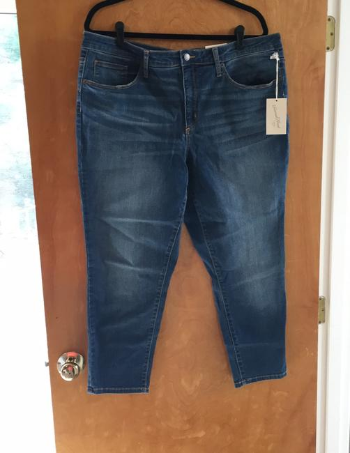 Universal Thread High Rise Crop New With Tags Skinny Jeans-Medium Wash Image 1