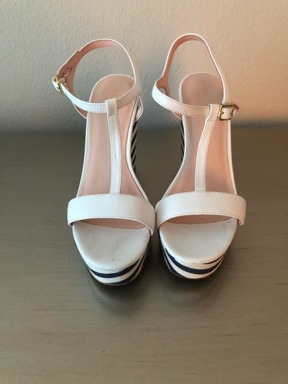 Kate Spade navy and white Wedges Image 2