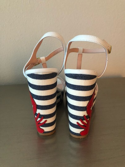 Kate Spade navy and white Wedges Image 3