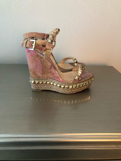 Christian Louboutin Multi-Colored Wedges Image 2