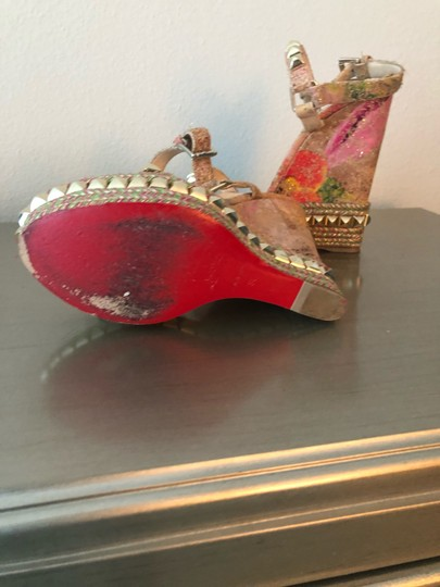 Christian Louboutin Multi-Colored Wedges Image 4