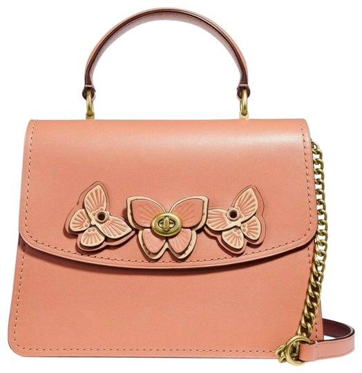 Preload https://img-static.tradesy.com/item/25795332/coach-top-handle-bag-parker-butterfly-applique-peachbrass-leather-satchel-0-1-540-540.jpg