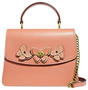 Coach Satchel in Peach/Brass