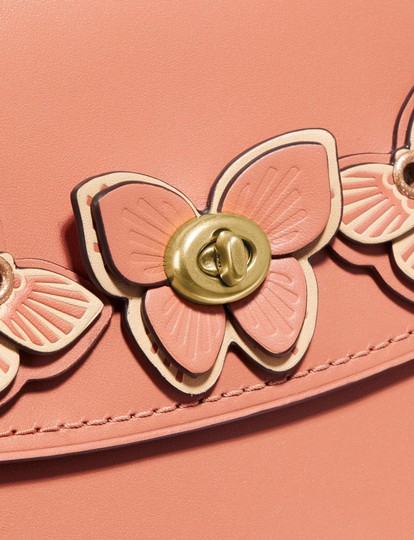 Coach Satchel in Peach/Brass Image 2