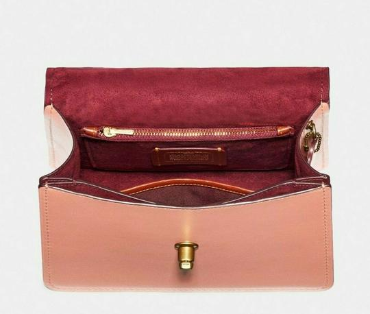 Coach Satchel in Peach/Brass Image 5