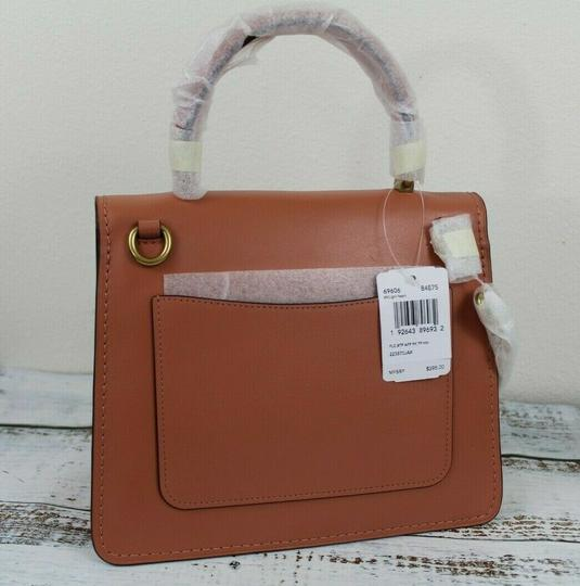 Coach Satchel in Peach/Brass Image 9