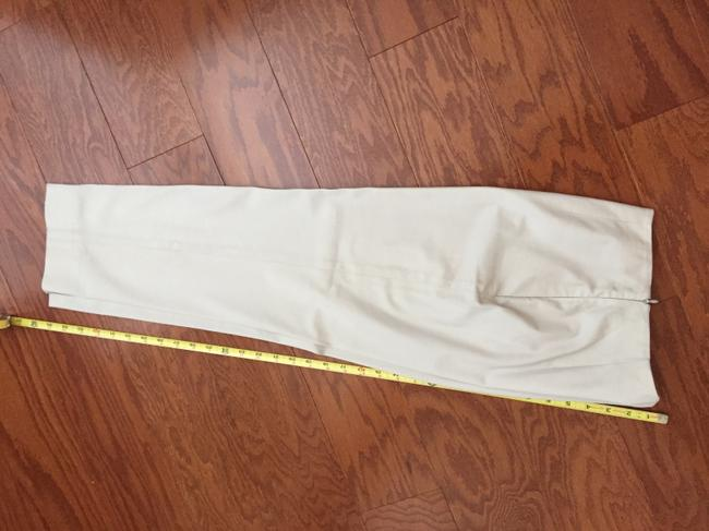 Piazza Sempione Leg Crop Made In Italy Hidden Side Zipper 95%cotton/5%lycra Straight Pants Cream eggshell Image 7