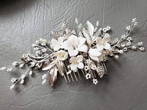 Silver New Flower Headpiece Comb Clip Pin Veil Hair Accessory