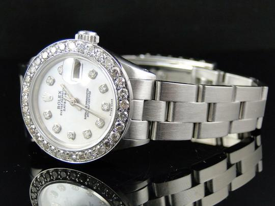 Rolex Ladies Datejust 26MM Oyster White MOP Dial Diamond 2.5 Ct Image 1