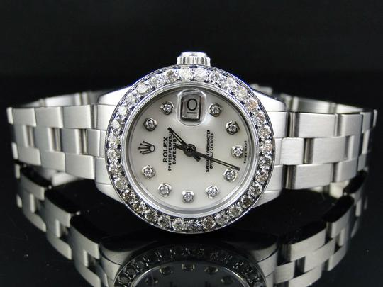 Rolex Ladies Datejust 26MM Oyster White MOP Dial Diamond 2.5 Ct Image 2