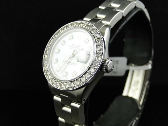 Rolex Ladies Datejust 26MM Oyster White MOP Dial Diamond 2.5 Ct Image 3