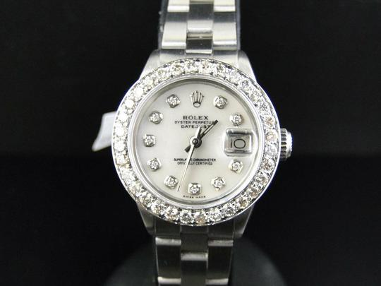 Rolex Ladies Datejust 26MM Oyster White MOP Dial Diamond 2.5 Ct Image 5