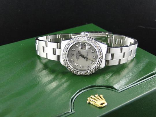 Rolex Ladies Datejust 26MM Oyster White MOP Dial Diamond 2.5 Ct Image 6