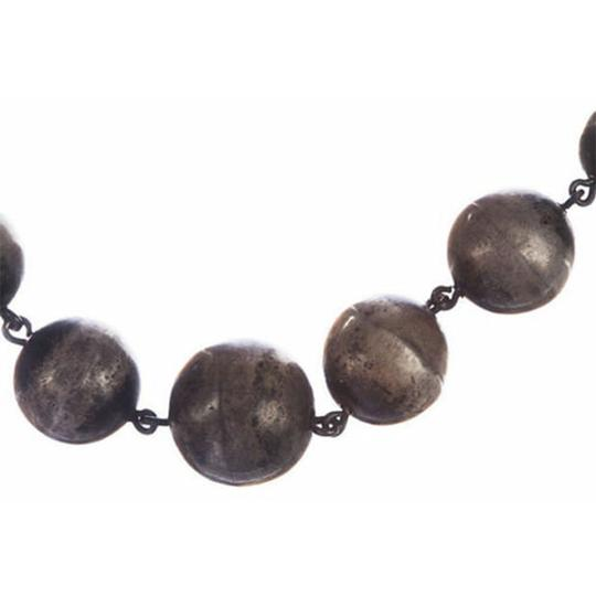 sterling silver Art Deco Graduated Ball Bead Necklace Image 1