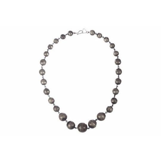 sterling silver Art Deco Graduated Ball Bead Necklace Image 2
