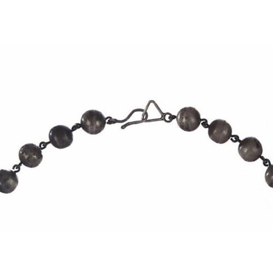 sterling silver Art Deco Graduated Ball Bead Necklace Image 4